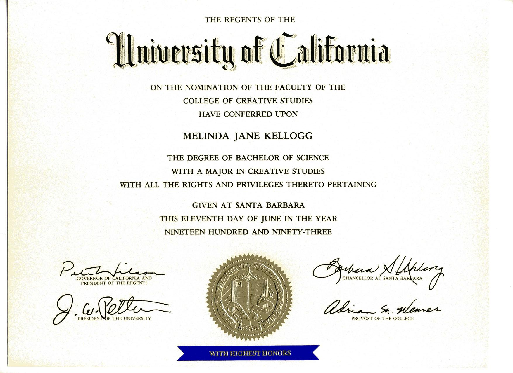 Ucsb 187 Who Is Melinda Jane Kellogg